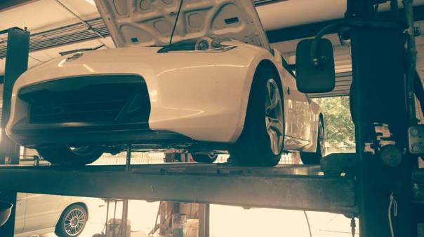 Nissan 370Z on the Lift
